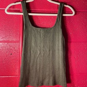 American Eagle Ribbed Olive Tank